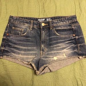 Mossimo High Rise Distressed Denim/Jean Shorts